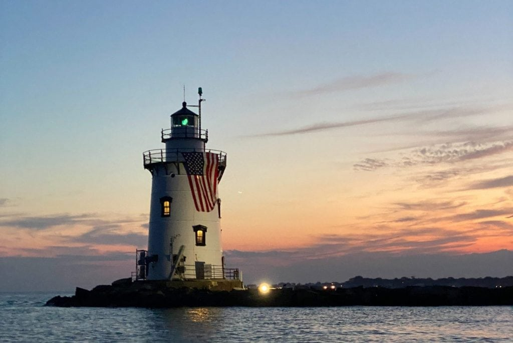 Photo of a lighthouse located in Connecticut