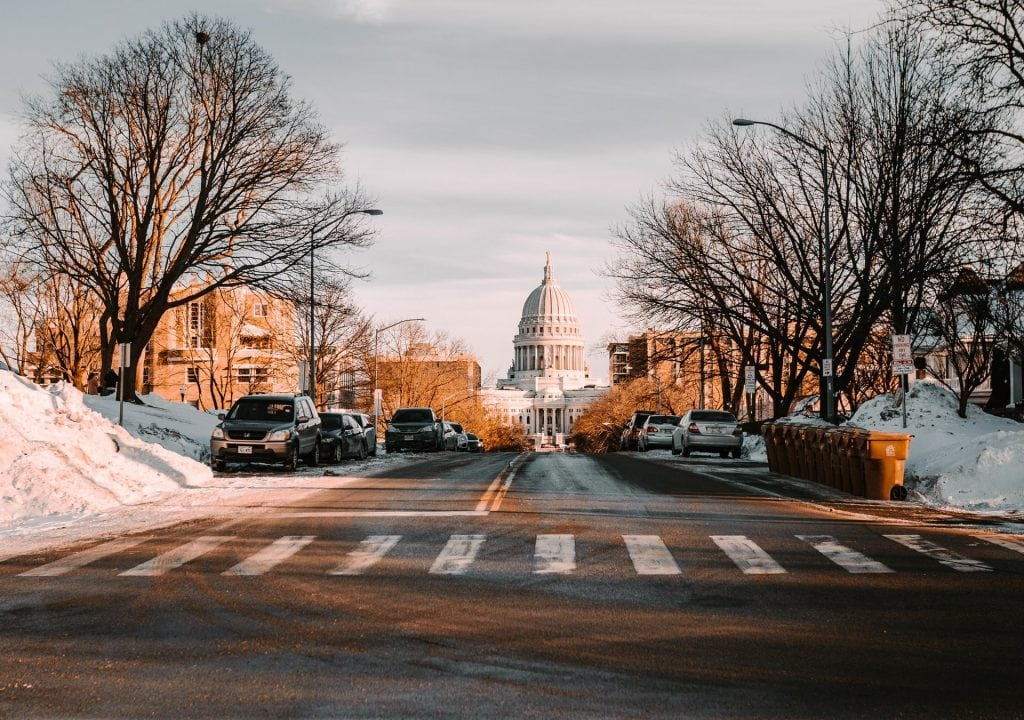 Photo of the capitol of Wisconsin state