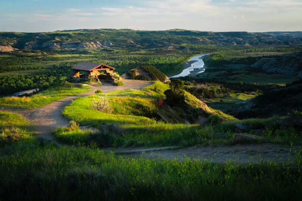 Panoramic photo of a meadow located in North Dakota
