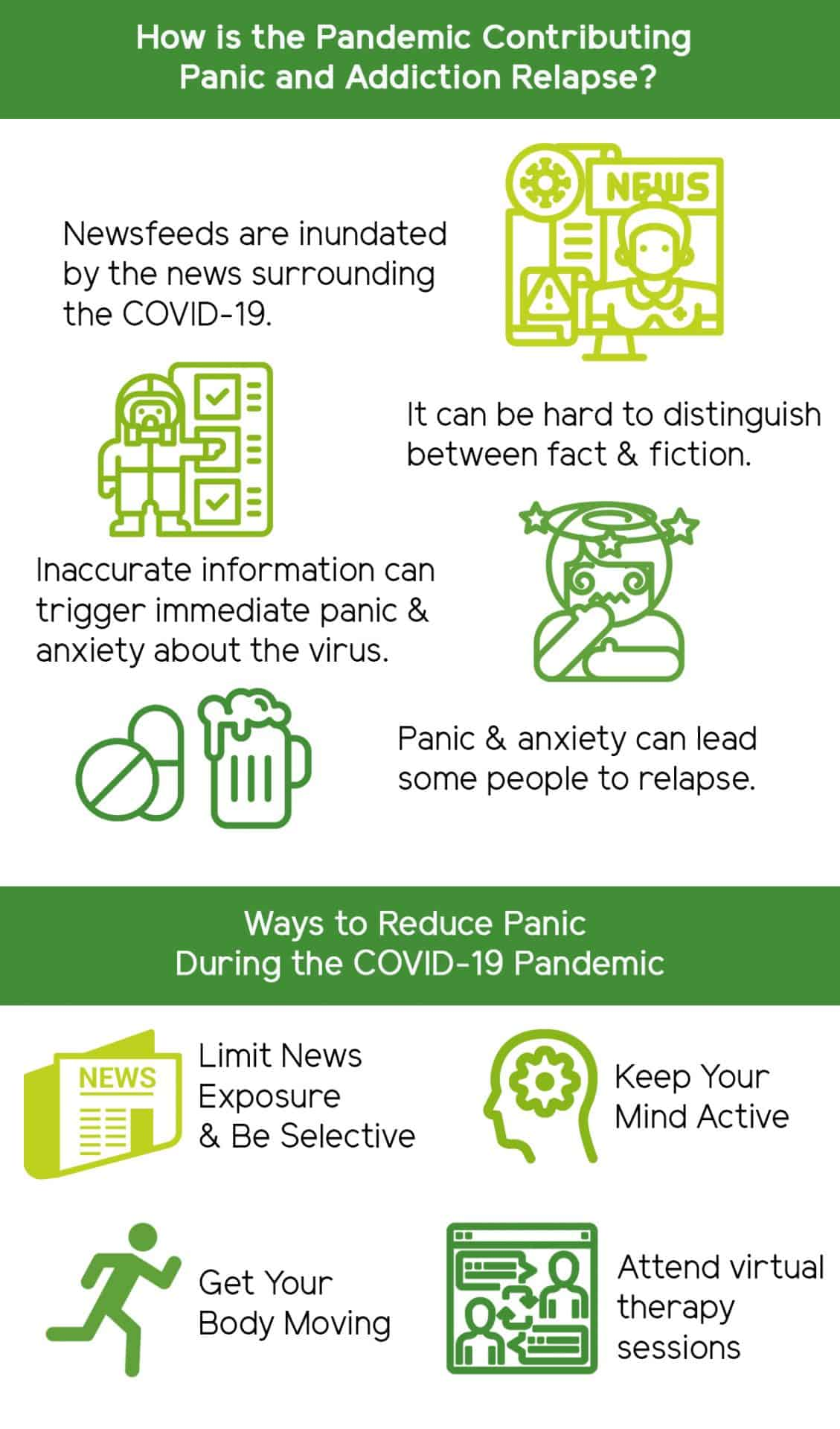 How to Avoid Panic and Addiction Relapse During the Pandemic