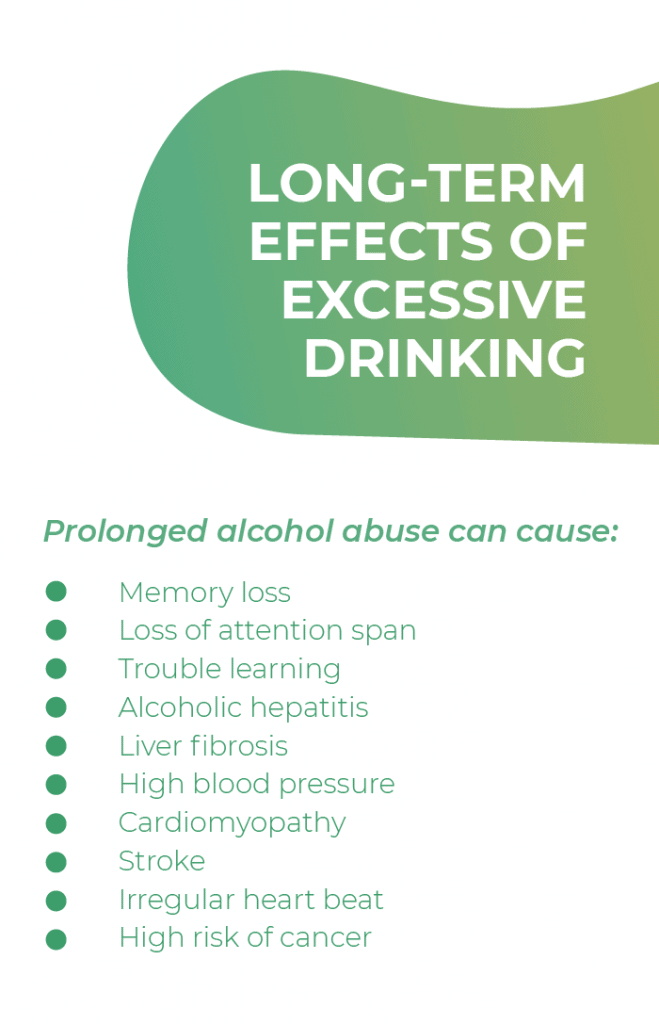 Long-term effects of excessive drinking