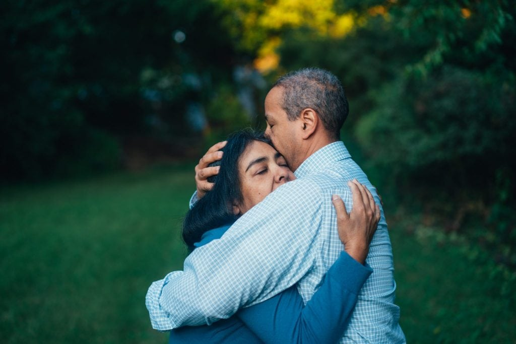 Photo of a couple hugging