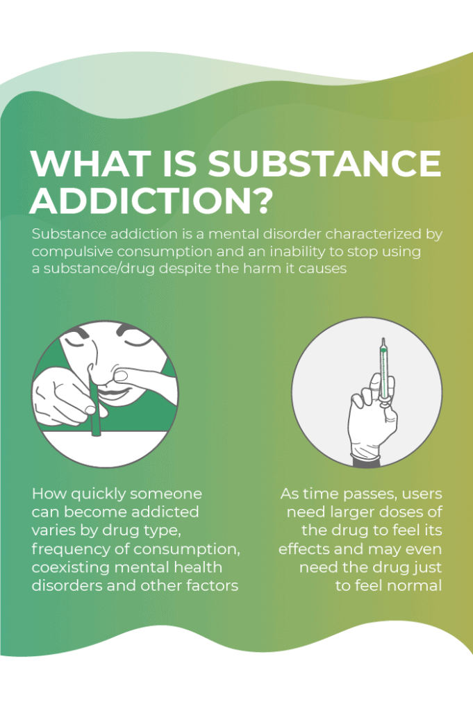 What is substance addiction?