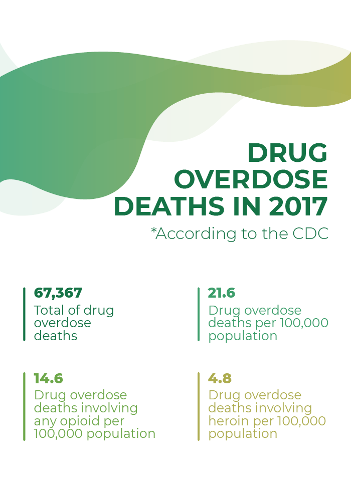 Drug overdose deaths in 2017