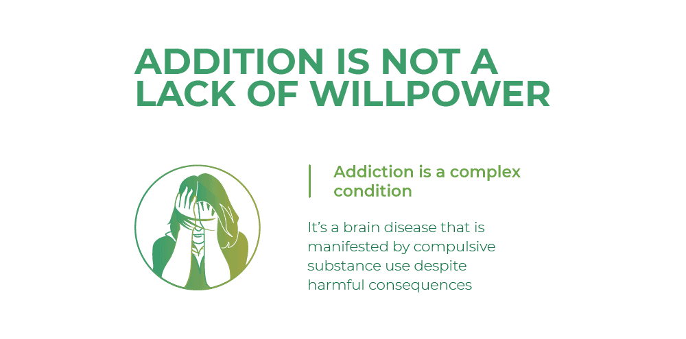 Addition is not a lack of willpower